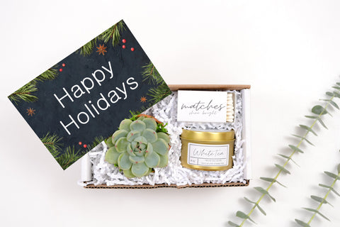 Happy Holidays - White Tea - Mini Gift Box