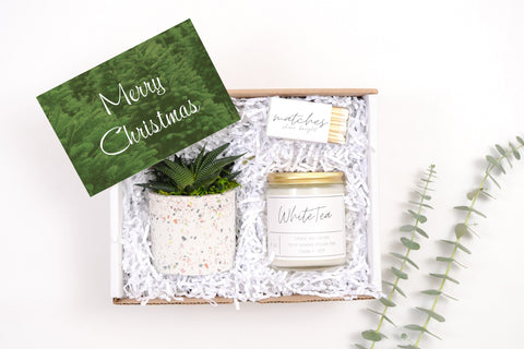 Merry Christmas Gift Box - White Tea - Mini Gift Box