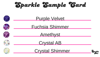 Sparkle Sample Card