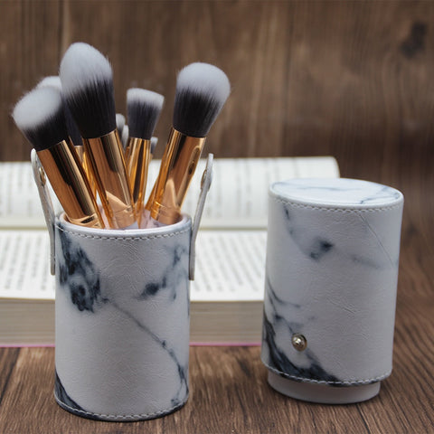 10pcs pro marble Makeup Brushes set with holder - ShopAllCases