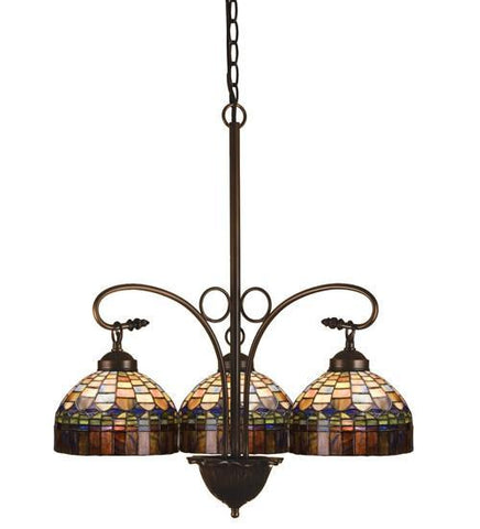 "Meyda Tiffany 19037 24""W Tiffany Candice 3 Lt Chandelier - PeazzLighting"
