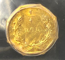 1854 25c Octagonal Liberty BG-108 PCGS MS64 California Fractional Gold | California Fractionals