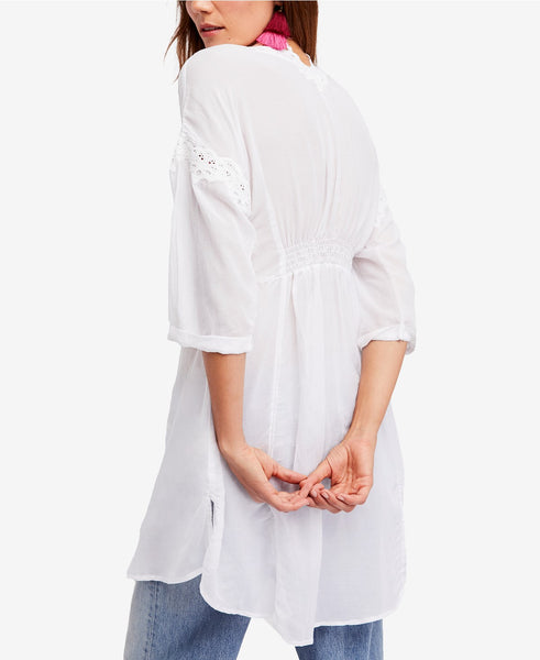 "Free People Embroidered ""Buttondown"""