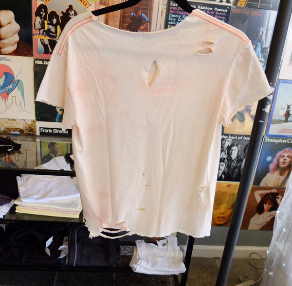 Bleached Out Vintage Distressed Woodstock Shirt