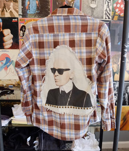 Flannel With Karl Lagerfeld Patch