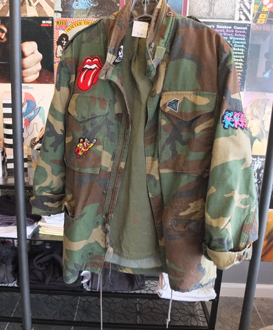 Camo Jacket With Patches