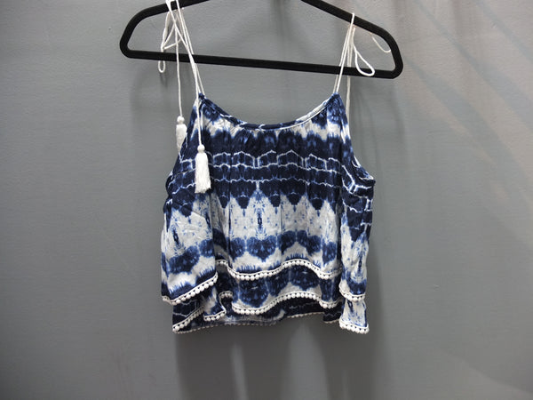 Vintage Havana tie dye Top with tassel