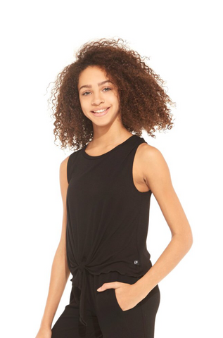 Terez Girls Black Ribbed Pullover