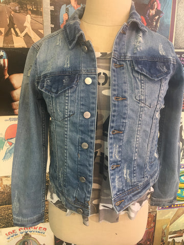 Tractr Kids Distressed Jean Jacket