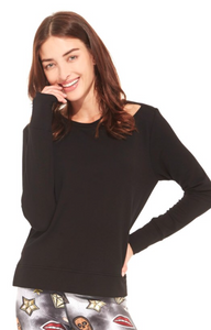 Terez Women's French Terry Long Sleeve With D-Ring
