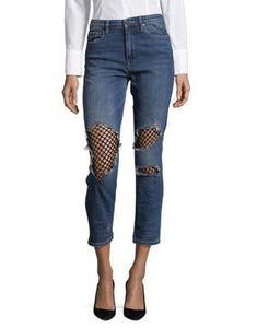 BLANKNYC Mesh Front Distressed Jeans