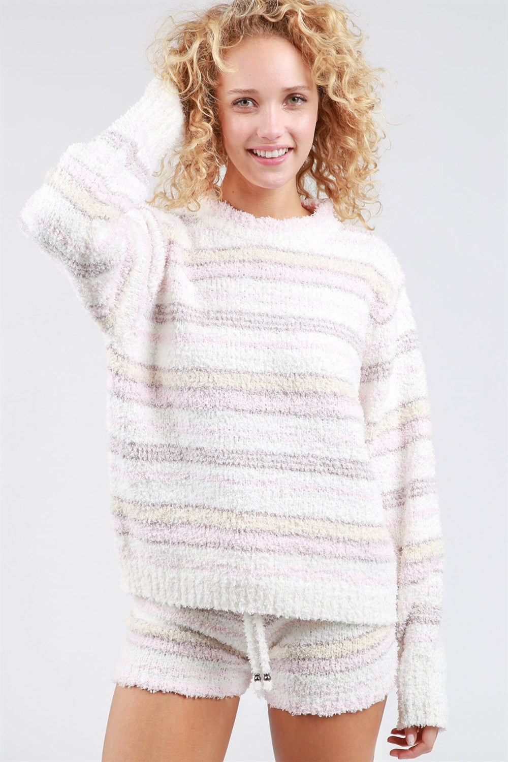 Striped Berber Pullover