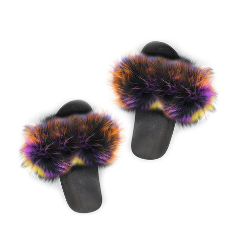 Rainbow Colors Furries Slippers