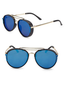Bari Lynn Embellished Aviator Sunglasses