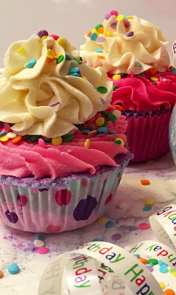 Happy Birthday Bath Bomb Cupcake