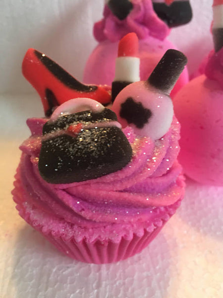 Diva Themed Bath Bomb And Bath Bomb Cupcakes