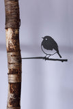 SWEET STEEL BIRD THAT SIILENTLY CHIRPS YEAR ROUND - ROBIN