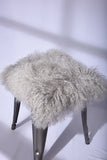 SHEEPSKIN CHAIRPAD : GREY TIBETAN HAIRS
