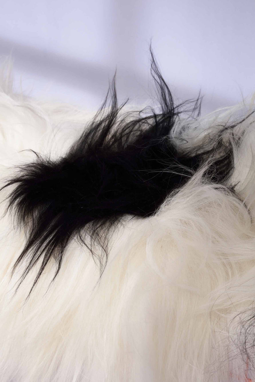 ICELANDIC SHEEPSKIN – BLACK & WHITE - LONG HAIRS