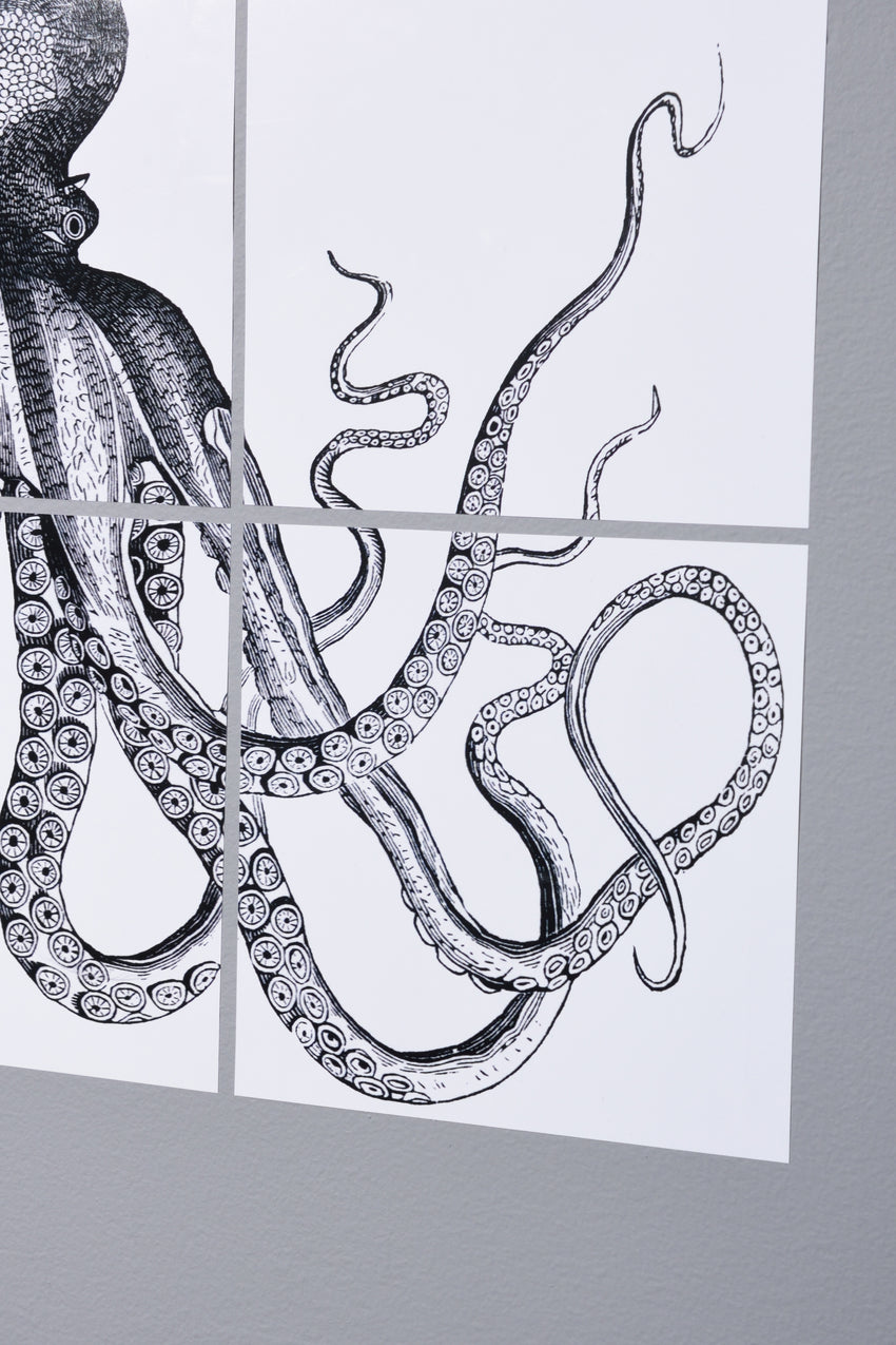 NAUTICAL ADHESIVE TILES : OCTOPUS