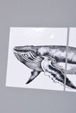 NAUTICAL ADHESIVE TILES : WHALE