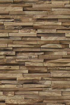 VINYL TROMPE L'ŒIL WALLPAPER: EXOTIC WOOD CLADDING
