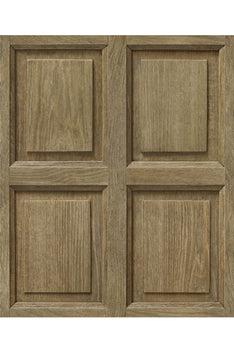 VINYL TROMPE L'ŒIL WALLPAPER - LIGHT OAK PANELLING