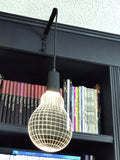 2D / 3D HANGING LAMP BULB SHAPE