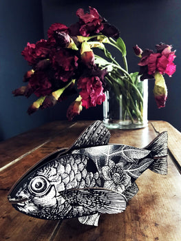 TROPHY 3D DETAILED FISH - FLOWERS