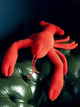 HAND-CROCHETED COOKED LOBSTER