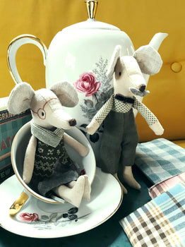 BEDSTEMOR & BEDSTEFAR, GRANDPARENT MOUSE COUPLE