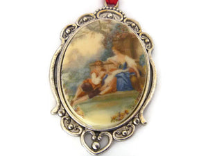 courting couple ornament