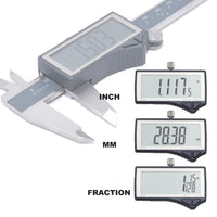 Clockwise Tools DCLR-0805 IP54 RS232 Digital Caliper 8 inch