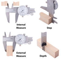 Clockwise Toold DDLR-1205 Shock Proof Dial Caliper 12""