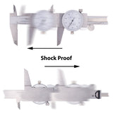 Clockwise Toold DDLR-0605 Shock Proof Dial Caliper 6""