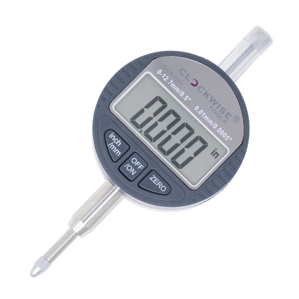 "Clockwise Tools DIGR-0055 Digital Indicator 0-0.5""/12.7mm"