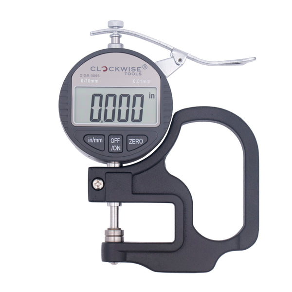 "Clockwise Tools DTGR-0055 0-0.4""/10mm Digital Thickness Gauge"