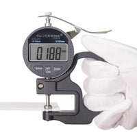 "Clockwise Tools DTNR-0055 0-0.4""/10mm Digital Thickness Gauge Resolution 0.00005"""