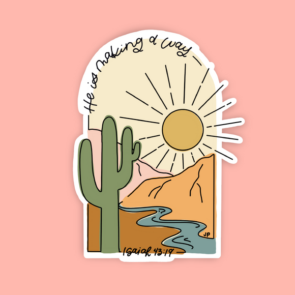 He is Making a Way Vinyl Sticker | FREE SHIPPING