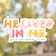 He Lives in Me Vinyl Sticker   FREE SHIPPING