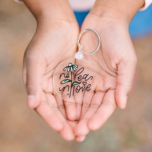 No Fear in Love Keychain