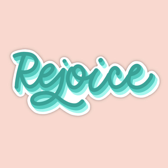 Rejoice Vinyl Sticker (Free Shipping)