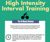 High Intensity Interval Training (Infographic)