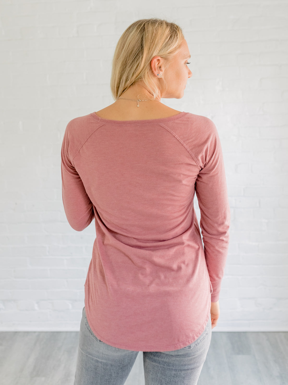 Freedom Sparrow - Mauve Long Sleeve Scoop Neck Shirt