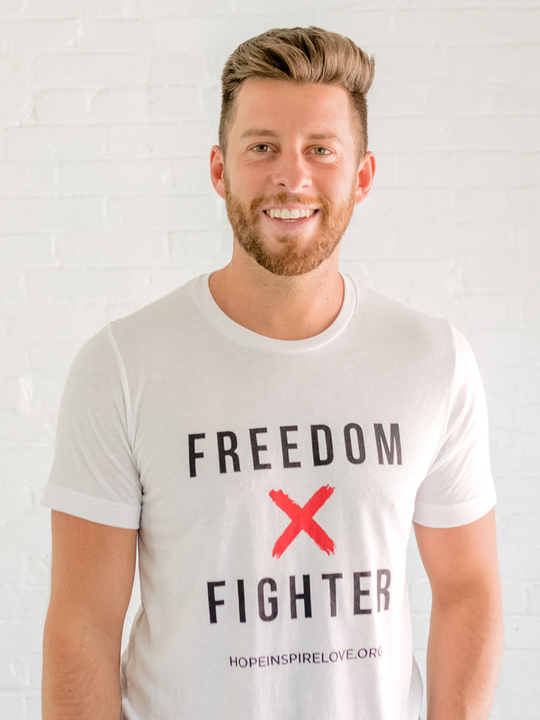 Freedom Fighter - White Short Sleeve T-Shirt - Unisex