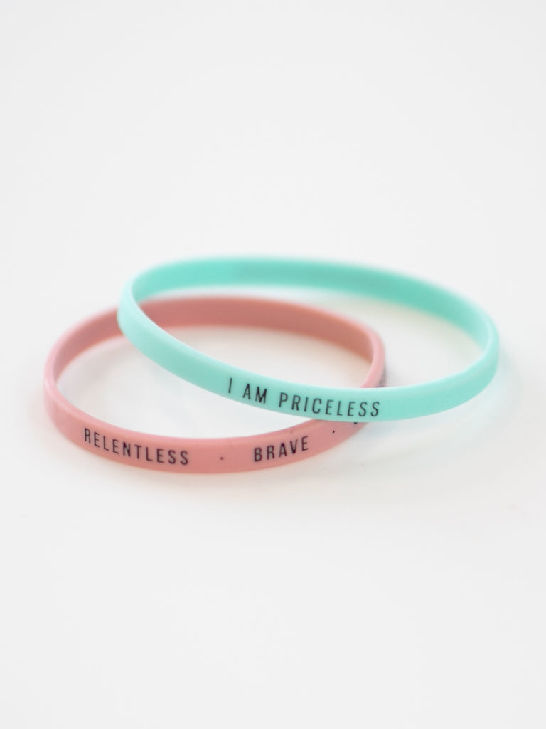 I Am Priceless Thin Silicone Wristbands