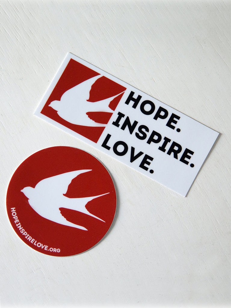 Two-Pack Hope Inspire Love Stickers