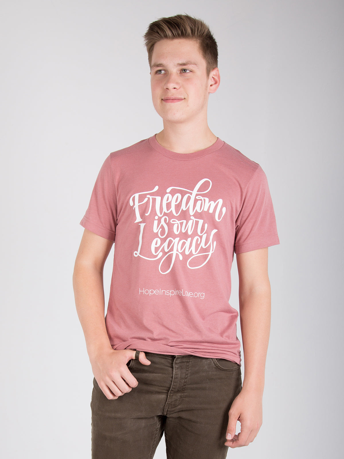 Freedom is Our Legacy - Mauve Short Sleeve T-Shirt - Unisex