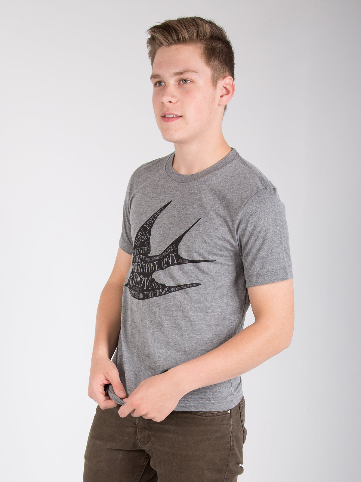 Freedom Sparrow - Grey Short Sleeve T-Shirt - Unisex