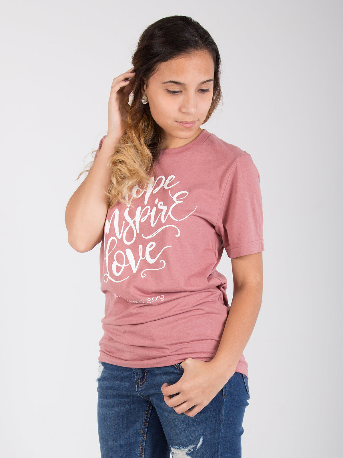 Hope Inspire Love - Mauve Short Sleeve T-Shirt - Unisex